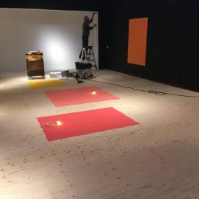 Opbouw nieuwe tentoonstelling